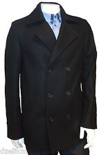 NWT HUGO (Red Label) by Hugo Boss Slim Fit Wool Blend Peacoat Coat Jacket
