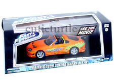 Greenlight 2001 Fast & Furious Brian's 1995 Toyota Supra MK 4 1:43 Orange 86202