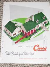 Vtg Philip Carey Shingle/Ceramo Siding Catalog-Asbestos