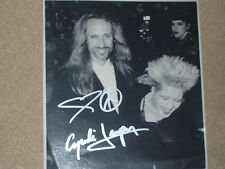 Cindy Lauper signed 7x7 Magazine photo