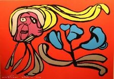 Karel Appel,Untitled Face Red SIGNED FINE ART LITHOGRAPH SUBMIT AN OFFER!