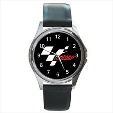 Moto GP Grand Prix Race Motorcycle Logo #J01 leather metal watch