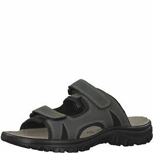 Marco Tozzi Uomo Sandali Pantofole 17400 Chiusura a Strappo Grigio