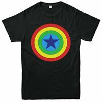 Captain America Logo T-Shirt, Superhero Marvel Avengers Adult & Kids Tee Top