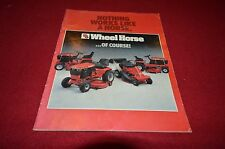 Wheel Horse Lawn Tractor Buyers Guide For 1984 Dealers Brochure YABE13