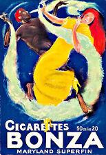 Art Cigarettes Bonza Ad Cigarette Ciggie smoking Deco Poster Print