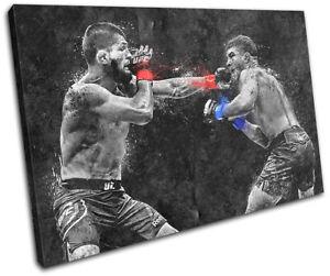 UFC Grunge Khabib Nurmagomedov Sports SINGLE CANVAS WALL ART Picture Print