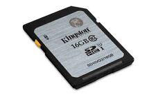 Kingston SD 16GB SDHC Class 10 UHS-I Speicherkarte Karte C10 Retail Neu Genuine
