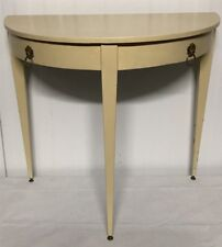 Antique French Demilune Console Hall Table D~Shaped Entry Table Accent Table