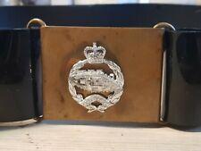 British Army PVC Vinyl Ceremonial Belt With Tank Badge