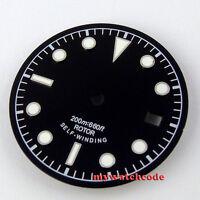 30.4mm black sterile dial green luminous Watch Dial for ETA 2824 2836 Movement25