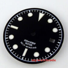 30.4mm black dial green luminous Watch Dial  for ETA 2824 2836 Movement 25