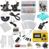 Complet Kit de Tatouage 2 Machine à Tatouer 20 Encres Pigment Tattoo Prof SJ12