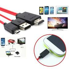 MHL Micro USB to HDMI 1080P HD TV Cable Adapter For Android Phones Samsung UK