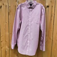 J. Crew Men's Sz 17 17.5 Thompson Dress Shirt Stretch Wrinkle Free Micro Check