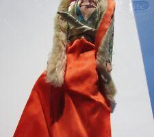 Vintage Barbie Doll Brocade Jacket Dress Lame Fur Stole Get Ups N Go Superstar