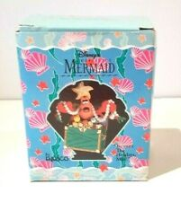 "DISNEY THE LITTLE MERMAID ""TREASURE THE HOLIDAYS MAN"" ENESCO CHRISTMAS ORNAMENT"