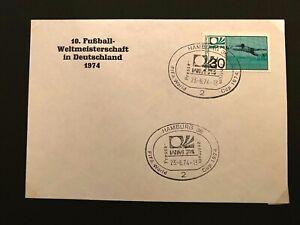 Fussball - WM - Beleg WM 1974 - DDR - Pressezentrum Hamburg (II)