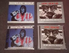 HOWLIN' WOLF - EVIL - 33 ORIGINAL TRACKS -  2CD BOX SET AND SON HOUSE RAW DELTA