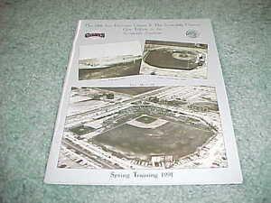 1991 San Francisco Giants Spring Training Baseball Program Scottsdale Stadium