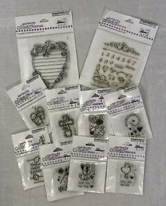 Lot of 10 STAMPENDOUS Perfectly Clear Stamps Acrylic Adhesive Stamp Craft
