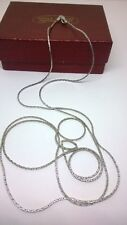 STERLING SILVER 925 GEMS TV LONG FINE CHAIN WEIGHS APPROXIMATELY 5 GRAMS VGC