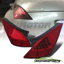 [LED Style]For 2003 2004 2005 Nissan 350Z Red Rear LED Brake Tail Lights Pair