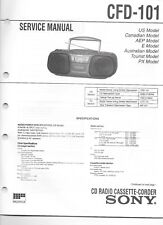 VINTAGE SONY SERVICE MANUAL CFD-101 CD RADIO CASSETTE BOOMBOX