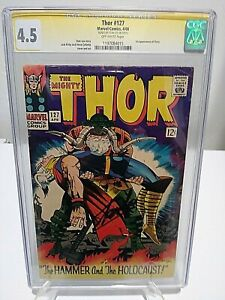 THOR #127 CGC 4.5 SS Signed by STAN The Man LEE