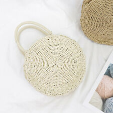 Summer Hot Sale Straw Round Beach Hand Bags - Apricot (LSG072736)