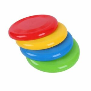 Flying Disc Frisbee Toy Plastic Beach Outdoor Dog Family Fun Water Sports Kids