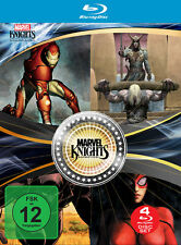 4 Marvel Knights BLU-RAY Filme Iron Man & Thor + Loki & Black Panther & Spider-W