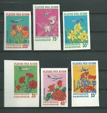 GABON  Stamps Flowers imperfored MNH