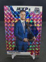 2019-20 Panini Mosaic Stephen Curry MVP Pink Camo Prizm