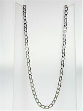 9K WHITE GOLD LONG OPEN CURB CHAIN 4.85G