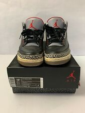NIKE AIR JORDAN 3 RETRO III BLACK VARSITY CEMENT GREY 2011 136064 010 Size 10.5