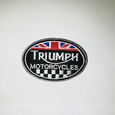 Triumph Motorcycle Embroidered Badge Iron On / Sew On Clothes Jacket Jeans N-466