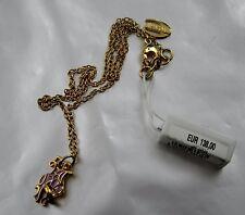 Just Cavalli Halskette Gold Drachenkopf lila emaille Designer Schmuck JC5