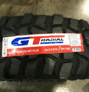 1 New LT 33 12.50 15 LRC 6 Ply GT Radial Savero Komodo M/T Plus Mud Tire