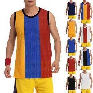 Mens Kick Air Breathable Mesh Vest Gym Training Basketball Sleeveless Muscle Top