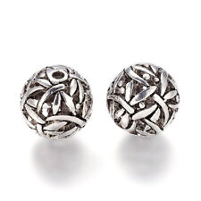 Antique Silver Plated Alloy 14.5mm Dragonfly Filigree Ball Beads 1.5mm Hole Q8