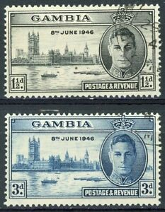 s3889 Gambia - Sc#145-46 Used