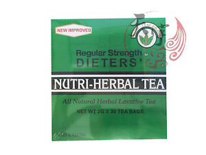 Nutri-Herbal Tea Natural Herbal Laxative Tea Regular Strength 2G x 30 Tea Bags