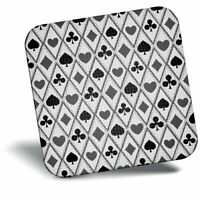 Awesome Fridge Magnet bw - Playing Cards Hearts Spades  #39519