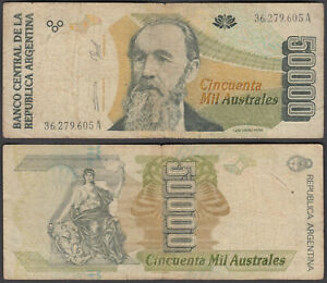 Argentina 50000 Australes 1989 (F) Condition Banknote P-335