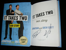 Property Brothers Jonathan and Drew Scott signed It Takes Two hardcover book