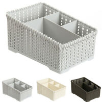 Plastic Makeup Holder Desktop Bathroom Sundries Storage Organizer Basket Welcome