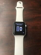 Apple Watch Series 3 GPS 42mm White Sport Band (USED AND LOCKED, PLEASE READ)
