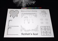 Personalised Childrens Kids Wedding Activity Pack Placemat A4 Favour 15
