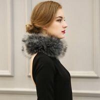 Women Fashion Faux Fox Fur Collar Scarf Shawl Stole Furry Neck Wrap Circles HOT